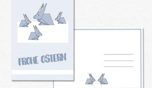 Origami Hasen Osterkarte